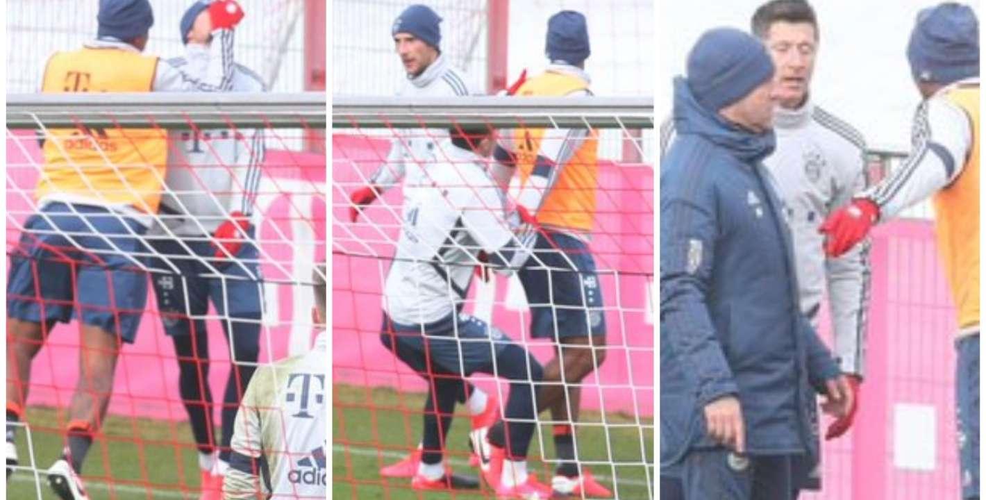 Resultado de imagen para Arde Bayern Múnich: las tres figuras que se fueron a las piñas en la práctica